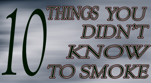 10 things you didn't know you could smoke that you never thought you could smoke! Once you master these items your culinary flavoring world with smoke will be end list.