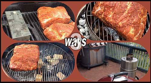 The Three ways we smoked-wood flavored our Boston Butts!