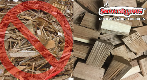 Not all wood supplier are like Smokinlicious®, cutting their product from forest grown fresh harvest. Rather they use recycled material.