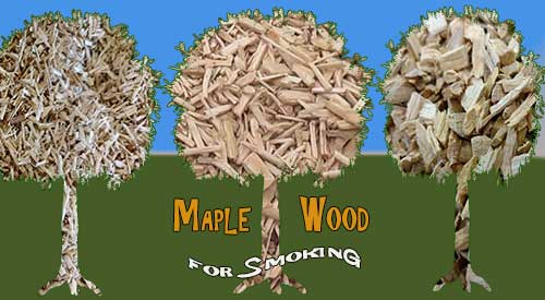 Maple wood for smoking- Oh the mighty Maple tree gives the grill or smoker and nice subtle tasting smokey flavor
