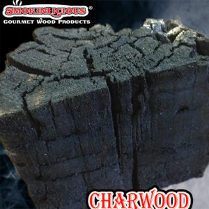 Our charwood shows the burn marks from the direct fire manufacturing process.