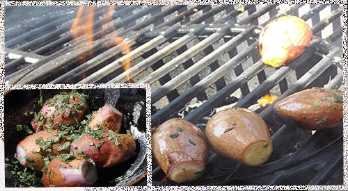Chef Calle's finesse technique of Grilling & Smoking Shallots on the charcoal grill using Charwood for the smoky wood flavor