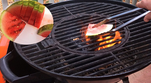 We do a summer favorite WOOD FIRED GRILLED WATERMELON!