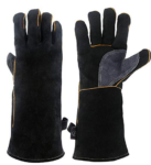 insulated long sleved gloves protect from heat and burns