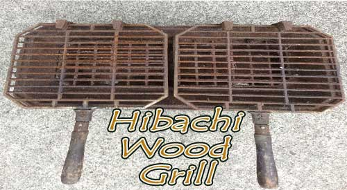 Our Old Hibachi Wood Grill after the spring cleaning