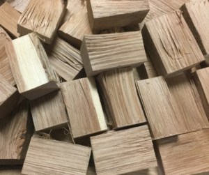 Our double filet wood chunks can fit where size matters for your smoker or cooker unit