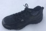 We are testing the indestructible shoe for hot ember resistance on the soles
