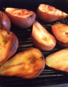 Stove-top Smoked pears