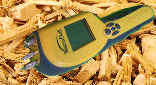 We use a moisture reader to maintain proper wood chip wetness of our products.