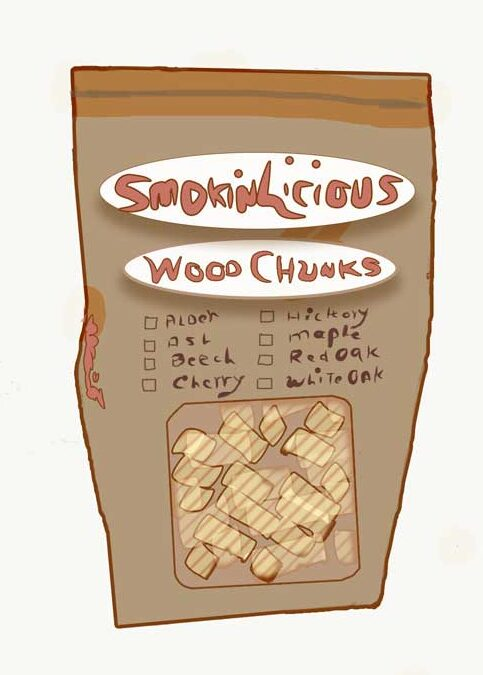 Our Smokinlicious Wood Chunk Bag