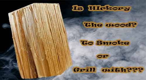 Our Hickory double filet is great for most smoking or grilling equipment - So YES-HICKORY THE WOOD TO SMOKE!