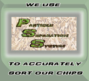 Our Particle Separation System provides accurate sizing of chips to eliminate the bigs and the smalls! Leaving only the correct sized wood chip.
